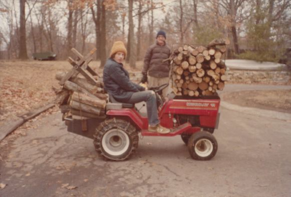 Robert Frei David on Tractor with wood